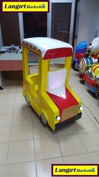 Jetonlu Oyuncak Sarı Araba